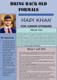 Hadi Khan – Junior Steward