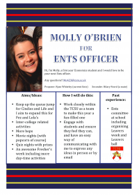 Molly O'Brien – Ents Officer