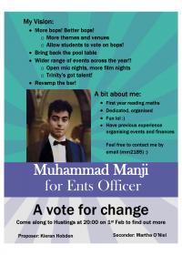 Muhammad Manji – Ents Officer