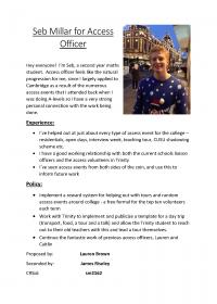 Seb Millar – Access Officer