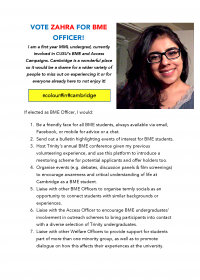 Zahra Sayyed – BME Officer