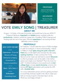 Emily Song – Treasurer