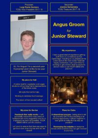 Angus Groom – Junior Steward